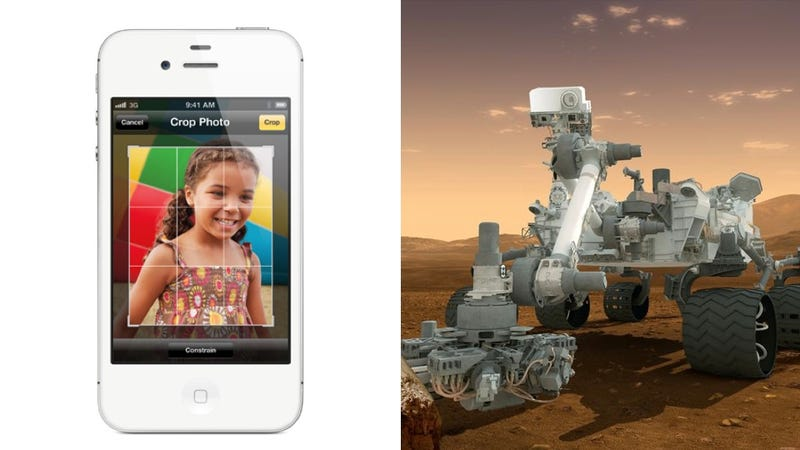 Illustration for article titled The iPhone Is Literally Four Times as Powerful as the Curiosity Rover
