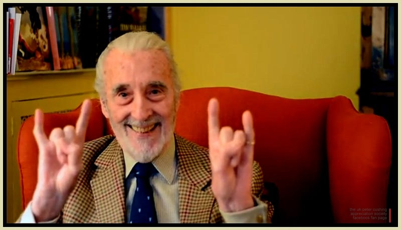 Illustration for article titled Christopher Lee Keeps His Christmas Metal Streak Intact With A New Song