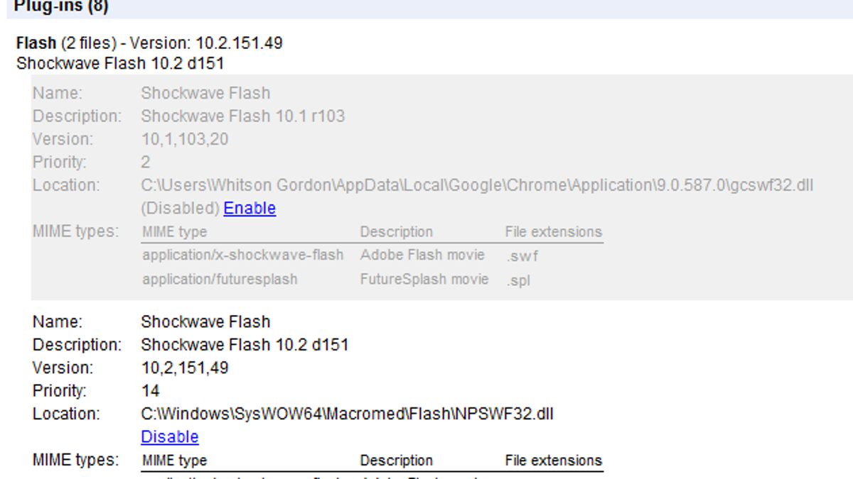 How to Get the Flash 10 2 Beta Working in Google Chrome