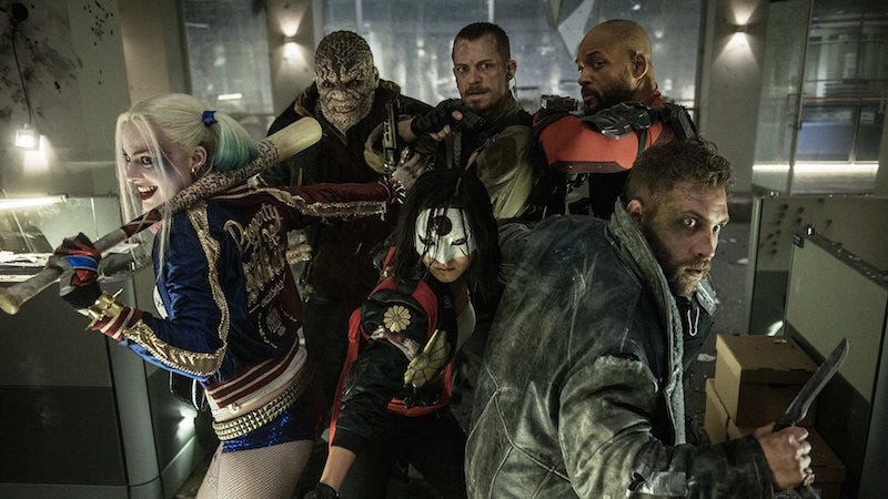 Illustration for article titled The Official Suicide Squad Movie Tattoos, Ranked
