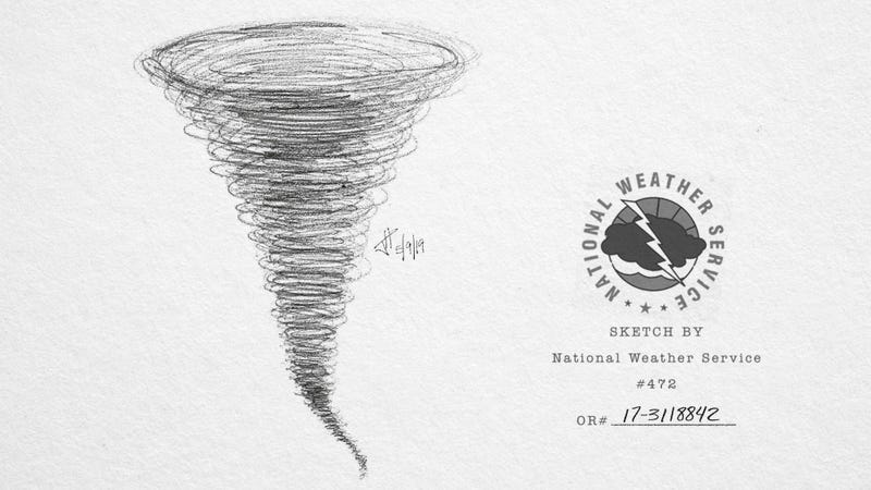Illustration for article titled National Weather Service Releases Composite Sketch Of Tornado It Believes Ravaged Midwest