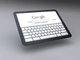 Illustration for article titled Is This How a Google Tablet Will Look in Action?