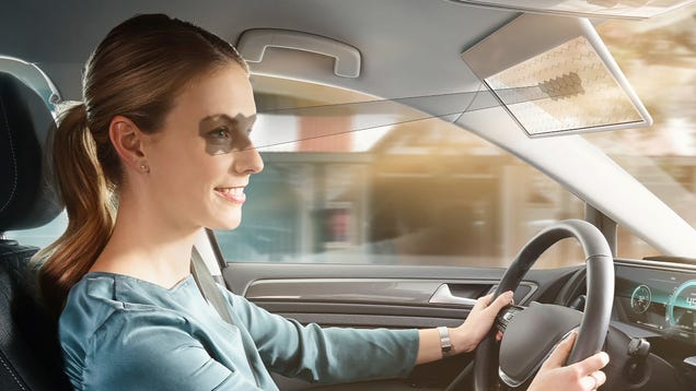 Bosch s LCD Car Visor Only Blocks Your View of the Road Where the Sun Is In Your Eyes