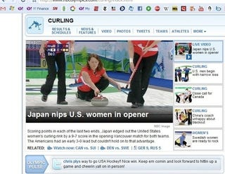Illustration for article titled NBCOlympics.com's Headline For Japan's Win Over U.S. In Curling