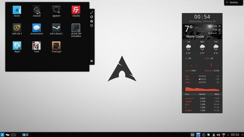 Illustration for article titled The Dark Arch Desktop