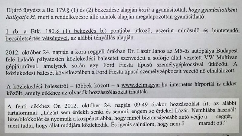 Illustration for article titled Exkluzív: Lázár János feljelentette a kommentelőt egy teljesen átlagos hozzászólás miatt