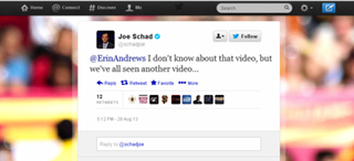 Illustration for article titled That Joe Schad Tweet About Erin Andrews's Peephole Video Is Fake