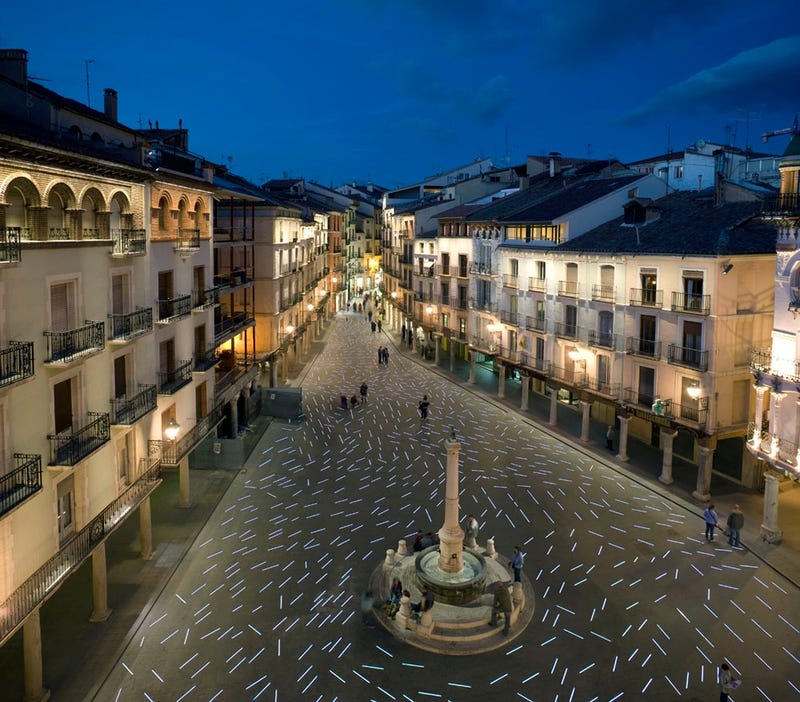 Illustration for article titled Follow The Plaza del Torico's LED Lamp Road