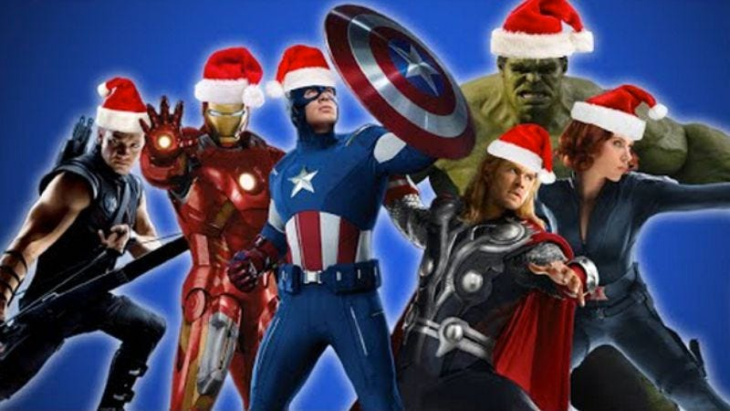 Illustration for article titled Ho-Ho-Hulk: The Avengers want to sing you Christmas carols