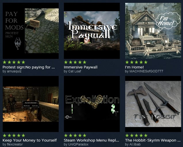 Steam's Most Popular Skyrim Mod Is A Protest Against Paid Mods