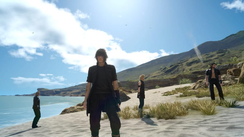 Illustration for article titled Final Fantasy XV's Scripted Prologue Probably Should've Been In The Game