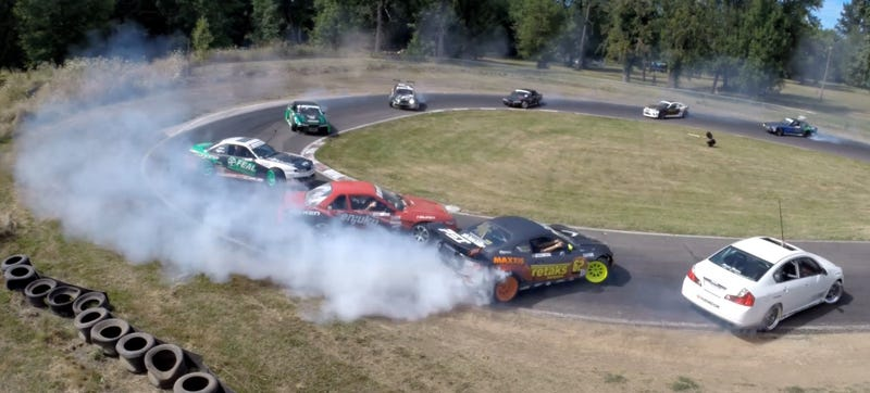Illustration for article titled Rally Subarus, FD, And A 12 Car Drift Bash: The Pacific Northwest Rules