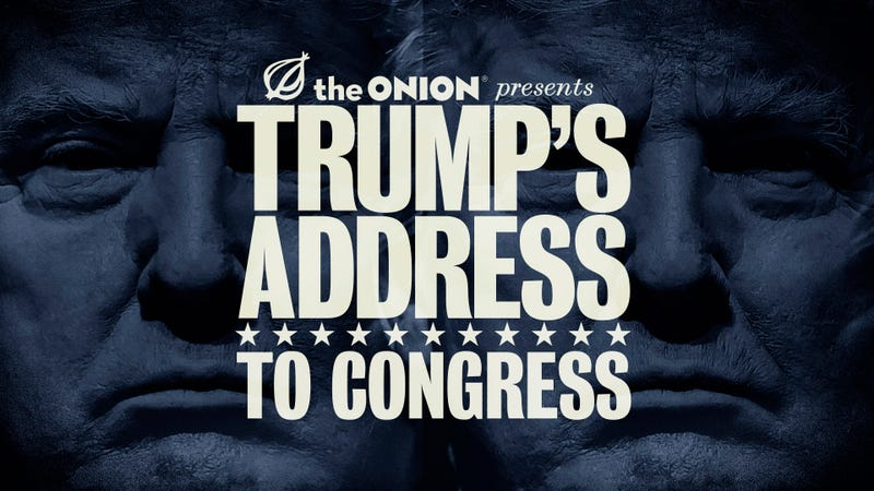 Illustration for article titled FUSION TV Turns to The Onion to Save It From President Trump's First Address to Congress