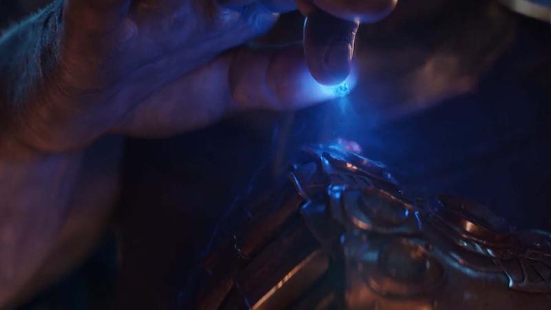 Thanos con las Gemas del Infinito en Avengers: Infinity War.