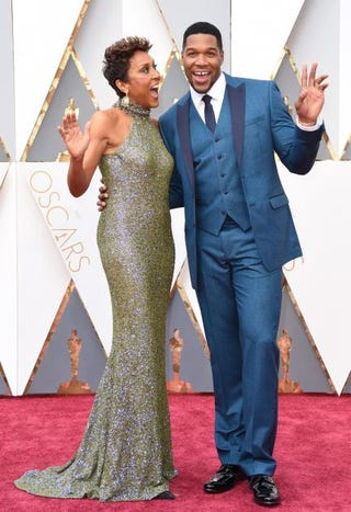 Robin Roberts and Michael Straham on the red carpet for the 88th Oscars on Feb. 28, 2016, in Hollywood, Calif.VALERIE MACON/AFP/Getty Images