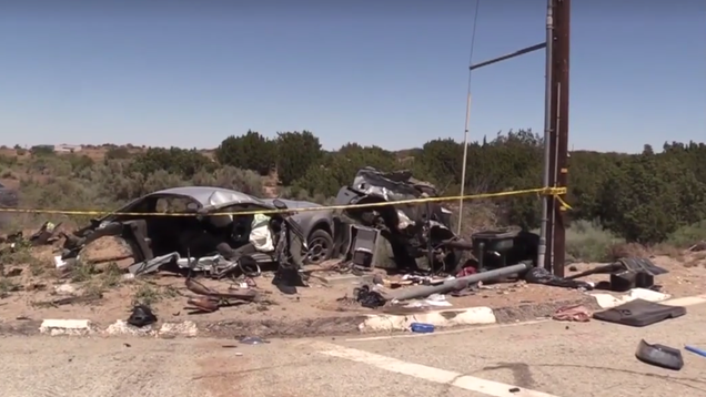 Ford Mustang Ripped In Half In Alleged Street Racing Crash