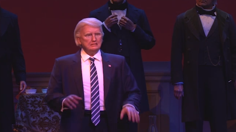 Illustration for article titled WAXING POLITICAL: Donald Trump Inducted Into Disney World's Hall of Presidents