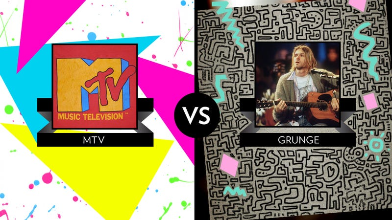 Illustration for article titled March Madness Championship Game: MTV vs. Grunge