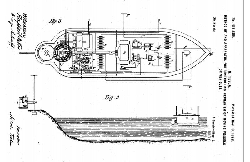 in 1898  nikola tesla predicted drone warfare