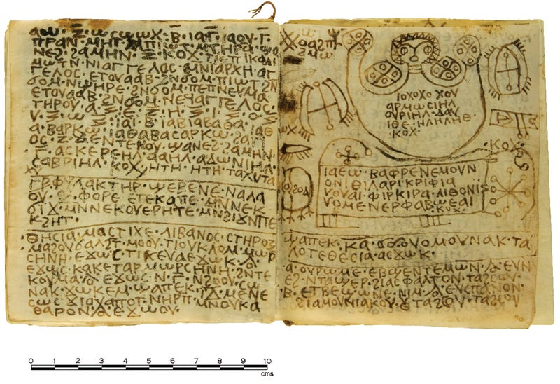 Illustration for article titled A 1,300-Year-Old Egyptian Book Of Spells Has Been Deciphered