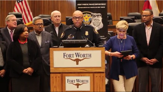Fort Worth, Texas, Police Chief Joel Fitzgerald at a news conference Dec. 23, 2016Fort Worth Star-Telegram screenshot