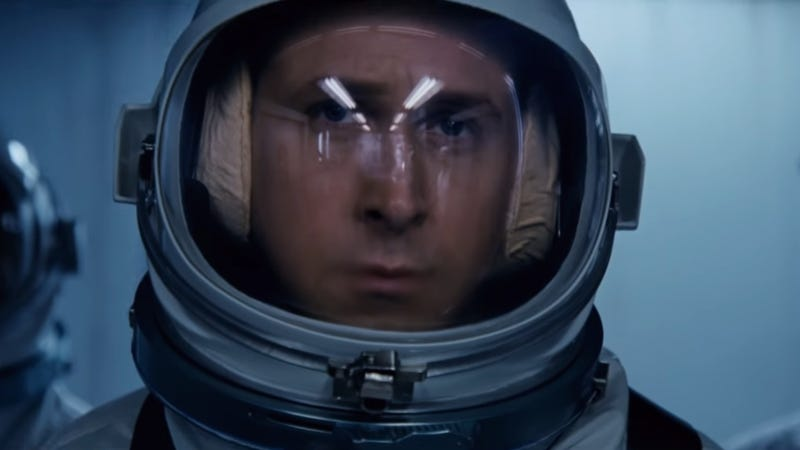Ryan Gosling as Neil Armstrong.