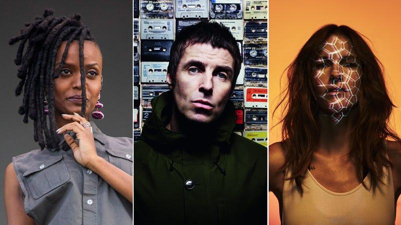Kelela (Photo: Scott Legato/Getty Images), Liam Gallagher (Photo: Rankin), Kaitlyn Aurelia Smith (Photo: Tim Saccenti)