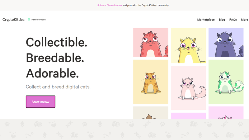 Illustration for article titled CryptoKitties, Which Is Like Beanie Babies on the Blockchain, Seems to Be Crashing