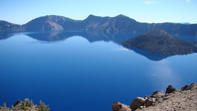 Crater Lake, Oregon. Image from Road Travel America.