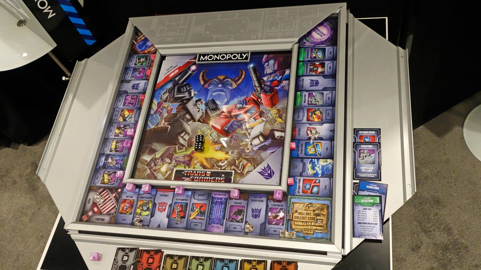 Board Games Toy : Transformers monopoly is a work of art you can actually
