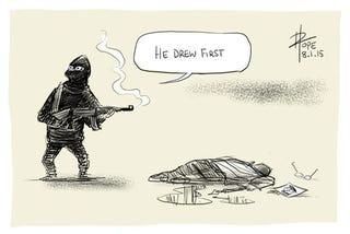 Illustration for article titled Én vagyok Charlie – karikaturisták tisztelegnek az áldozatok előtt