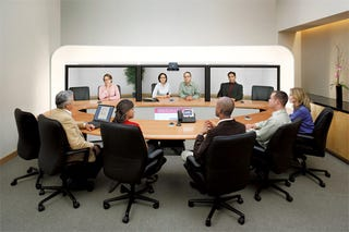 Illustration for article titled Cisco's Telepresence Video Chat is Expected for Homes Next Week