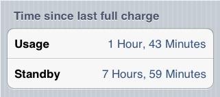 Illustration for article titled iOS: Find Out How Long It Took To Discharge Your Battery
