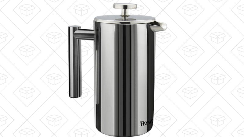 Homdox 18/10 Stainless Steel French Press, $24 with code EOPD53L8