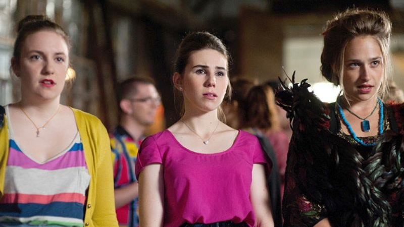 Lena Dunham, Zosia Mamet, and Jemima Kirke of HBO's Girls (Photo: HBO)