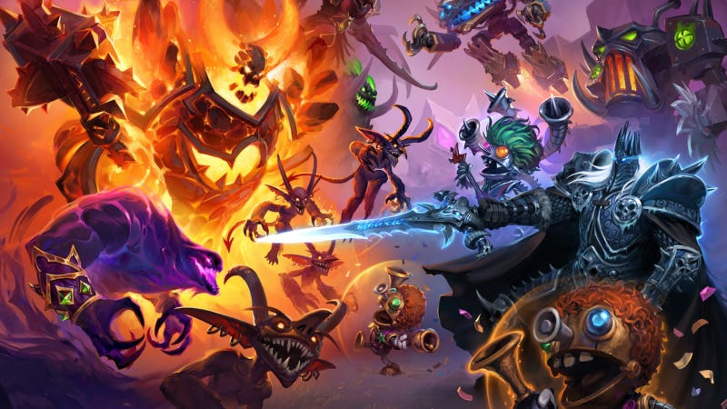Illustration for article titled Hearthstone's New Battlegrounds Mode Isn't Meant To Be Competitive, Designers Say