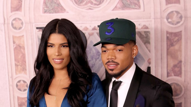 Kirsten Corley and Chance the Rapper attend the Ralph Lauren fashion show during New York Fashion Week on September 7, 2018 in New York City.