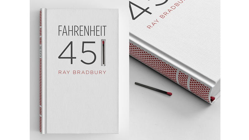 Book Cover Drawing List : Fahrenheit is easier to burn with this clever