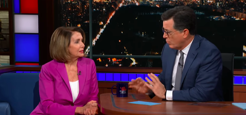 Congresswoman Nancy Pelosi, Stephen Colbert