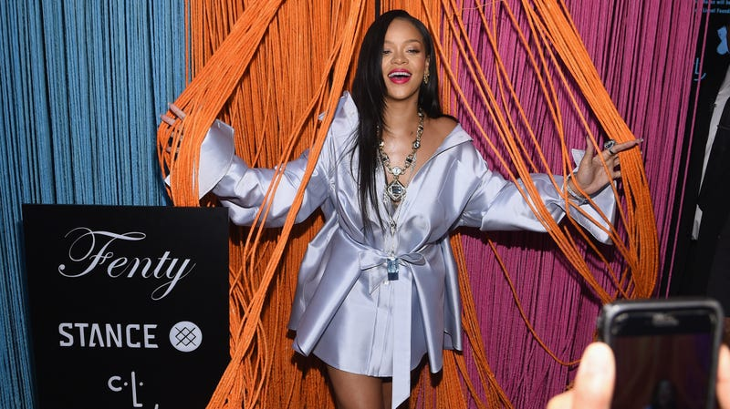 Rihanna makes an appearance at Stance for the Clara Lionel Foundation on June 6, 2018 in New York City.