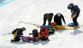 """Illustration for article titled British """"Glamour Girl"""" Skier Experiences The Agony Of Bone-Breaking Defeat"""