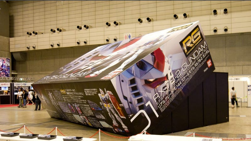 Illustration for article titled The World's Largest Gundam Box Is Pretty Damn Big