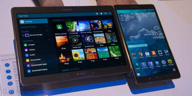 Samsung Galaxy Tab S: A Shining Screen On a Whole New Body (Update: Hands-On)
