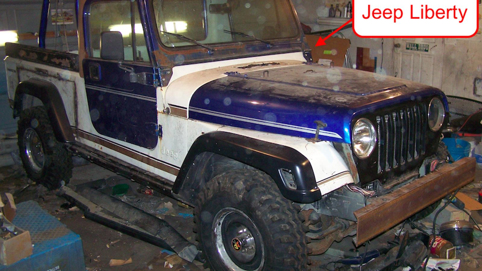 Crazy Man Grafts A Jeep Scrambler Body Onto Unibody Liberty