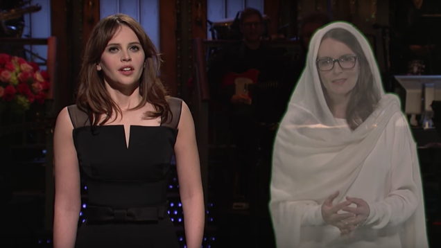 felicity jones name drops star wars like a lot during snl monologue