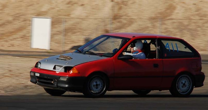 Illustration for article titled Hayabusa-Powered Geo Metro To Take On LeMons, Sneers At Ghettocharged Miata