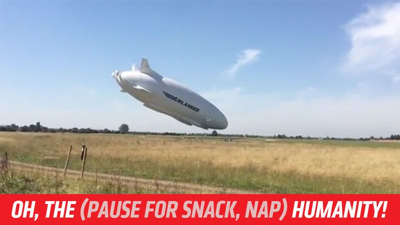 Illustration for article titled World's Largest Aircraft, 'The Flying Bum', Has Incredibly Gradual Crash