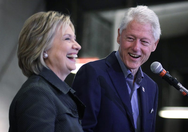 Democratic presidential candidate Hillary Clinton and her husband, former President Bill Clinton, in 2015Alex Wong/Getty Images