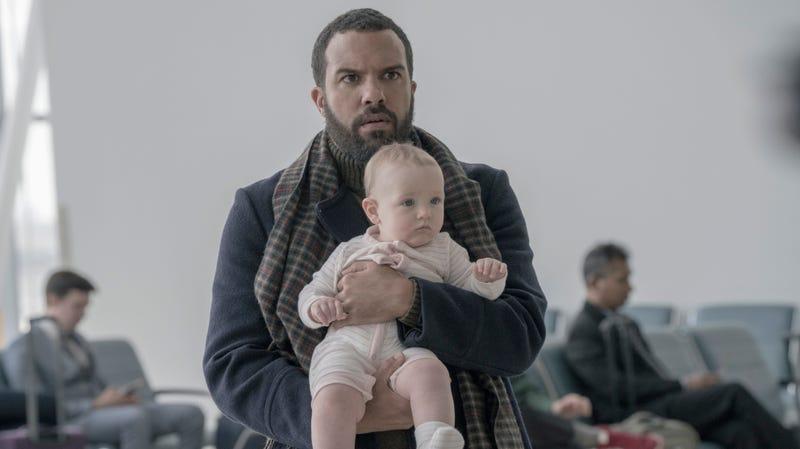 Luke (O. T. Fagbenle) and baby Nichole.