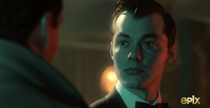 Jack Bannon as a dapper young Alfred in Pennyworth.